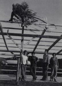 Bau des alten Sportheims 1976